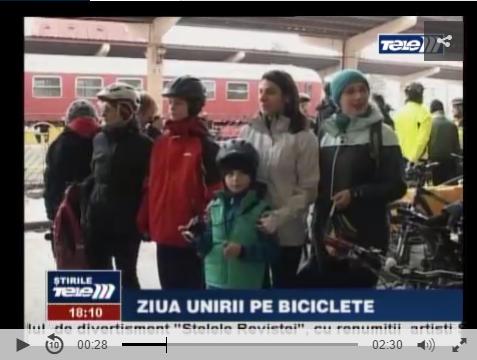 Trenul Unirii a ajuns la Iasi incarcat cu biciclete